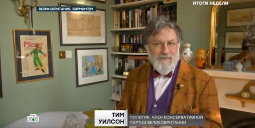 Kadr z materiału NTV opublikowany w serwisie EUvsDisinfo