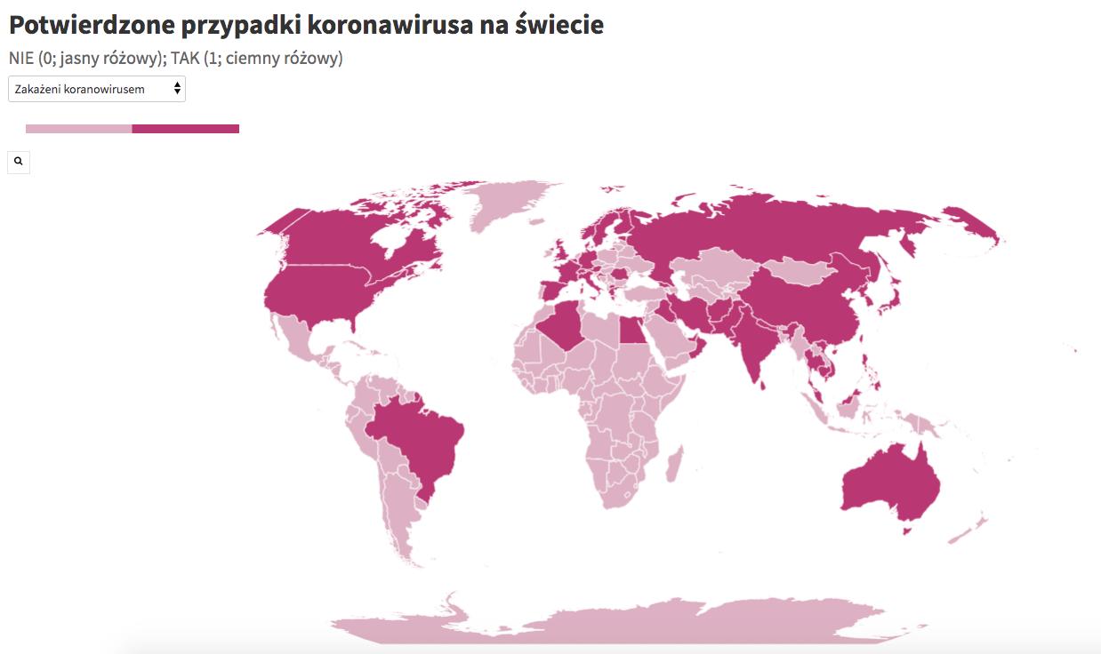 Potwierdzone przypadki koronawirusa na świecie (stan na 27.02, godz. 18:00)
