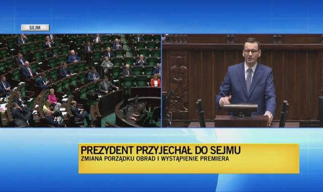 Premier Mateusz Morawiecki o działaniach opozycji