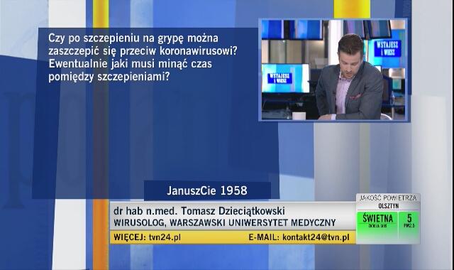 Dr Dzieciątkowski: nie będzie to szczepionka, po której odporność poszczepienna będzie trwała dożywotnio