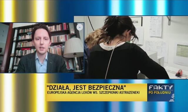 Dr Tomasz Imiela tłumaczy dyskusję o skutkach ubocznych szczepionki AstraZeneca