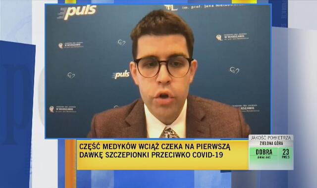 """Dr Jankowski o wstrzymaniu szczepień grupy """"zero"""": czujemy się dyskryminowani"""