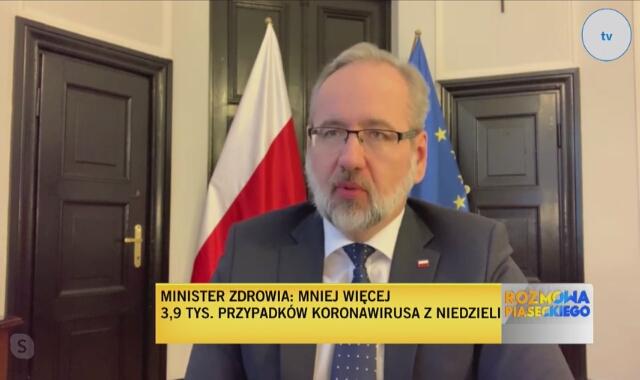 Minister zdrowia Adam Niedzielski: Do tej pory były dopuszczone zamienniki maseczek. Chcemy to cofnąć, żeby zamiennika nie było
