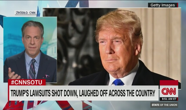 """""""Sędziowie potrzebują dowodów"""". CNN o skargach wyborczych Donalda Trumpa"""