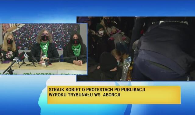 Marta Lempart o zatrzymanych przez policję manifestantach